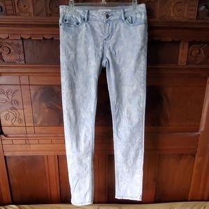 2.1 DENIM Acid / Stone Washed Skinny Jeans - 28